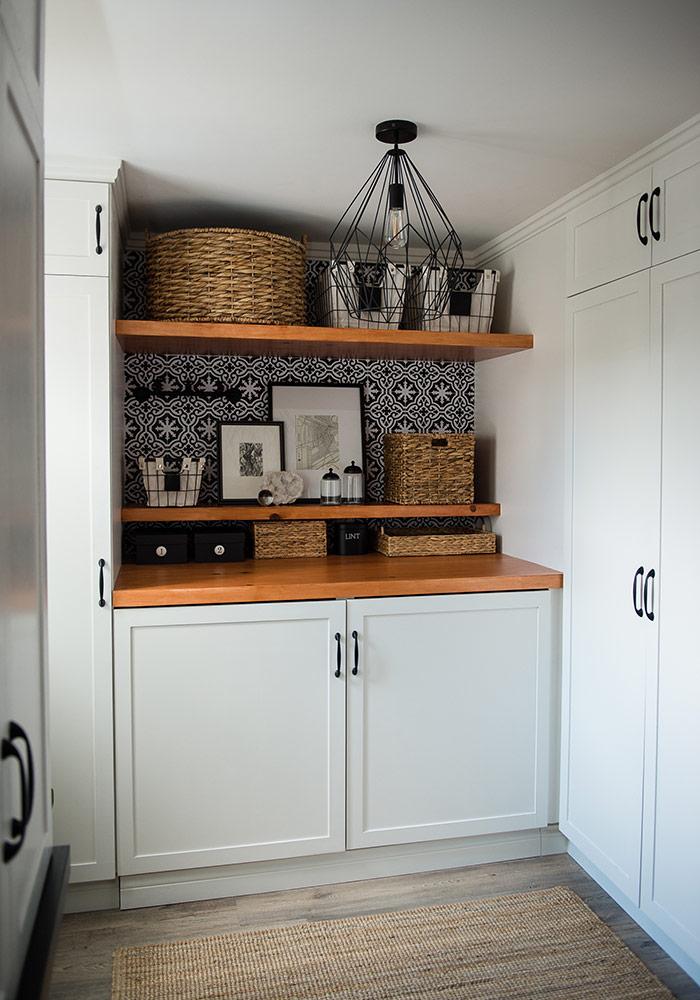 Shaker style custom built cabinets