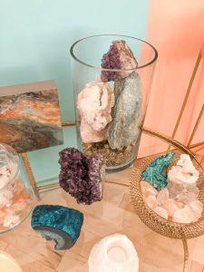 Geodes, crystals and Himalayan rock salt